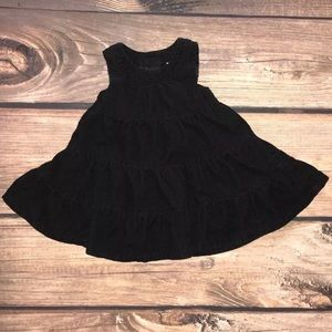 OshKosh b'gosh black cord dress 9 Months